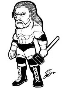 WWE Triple H Coloring Pages