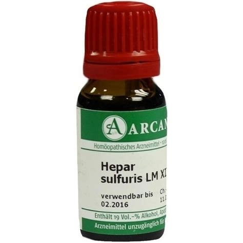 hepar sulfuris lm  dilution  ml pzn