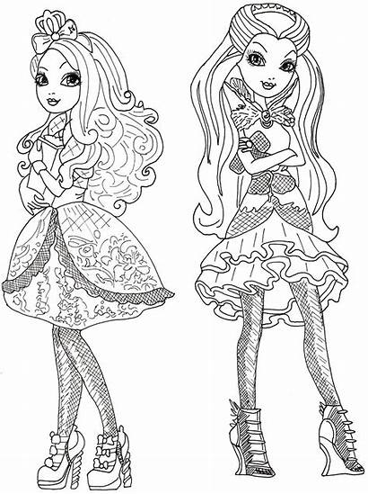 Coloring Ever Pages Queen Raven Apple Printable