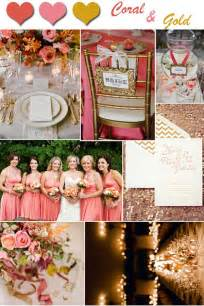 Gold and Coral Wedding Colors