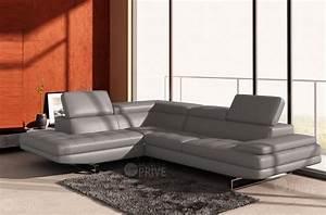 Canapé Cuir Gris Clair : canap d 39 angle en cuir italien 6 places birkin gris clair mobilier priv ~ Teatrodelosmanantiales.com Idées de Décoration