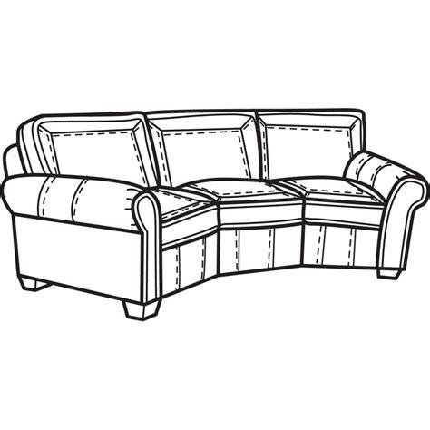 Flexsteel Vail Conversation Sofa by Flexsteel N7305 323 Vail Nuvoleather Conversation Sofa
