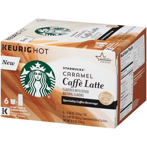 For those who love the aroma of cinnamon, this. Starbucks Caramel Caffe Latte Specialty Coffee Beverage K ...