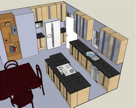 designing your own kitchen layout small 3d kitchen design home decoration 8675