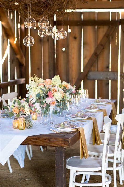 wedding table decor shabby chic barn wedding table decor for weddings 1168