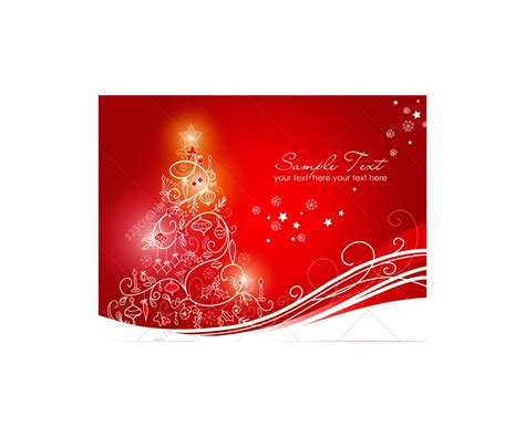 greeting cards  christmas tree vector graphics