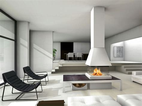 living room with fireplace in the middle modern fireplaces for stunning indoor and outdoor spaces