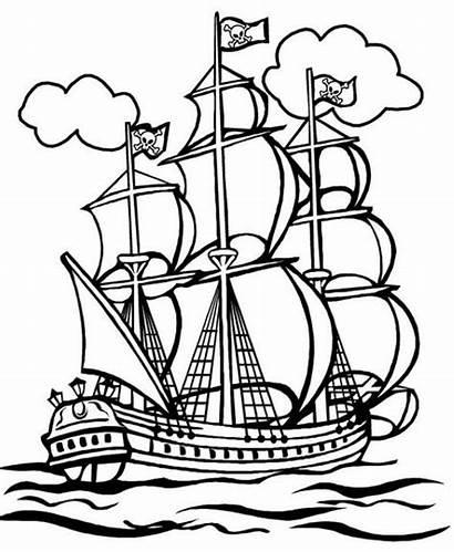Barcos Pirata Coloring Dibujos Colorear Pirate Dibujo