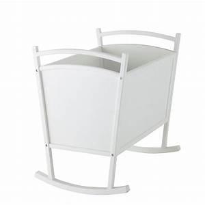Berceau Bebe Blanc : berceau b b en bois blanc l 60 cm songe maisons du monde ~ Teatrodelosmanantiales.com Idées de Décoration