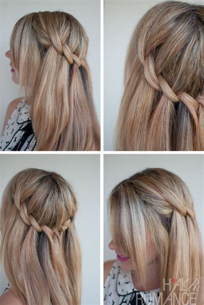 beautiful waterfall twist summer hairstyle ideas cute