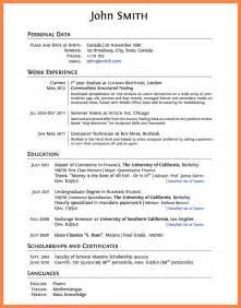 grad school curriculum vitae exle 8 curriculum vitae exles grad school bussines