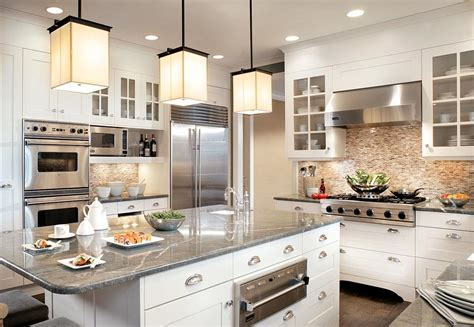 kitchen island with open shelves 25 stunning transitional kitchen design ideas