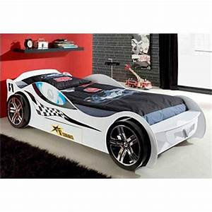 Lit Voiture 90x190 : lit voiture de course enfant 1 tiroir vipack prix promo ~ Teatrodelosmanantiales.com Idées de Décoration
