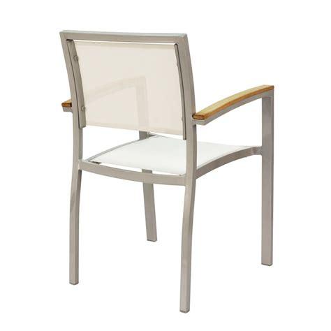 chaise aluminium exterieur chaise alu exterieur free lot de fauteuils pliants pol aluminium blanc toile blanche collection