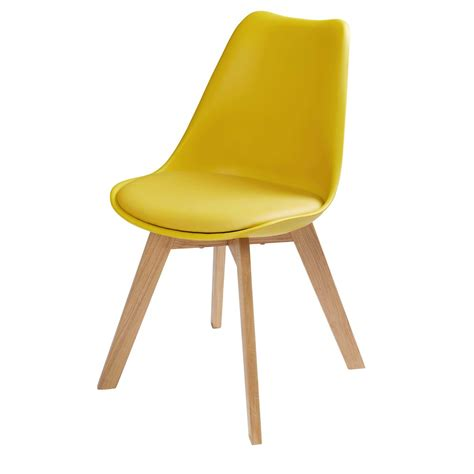 chaise moutarde chaise scandinave jaune moutarde maisons du monde