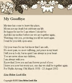 Goodbye My Friend Poem
