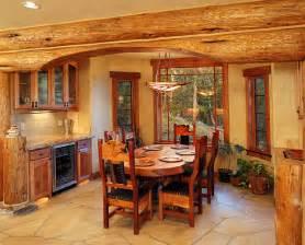 beautiful log home interiors beautiful log cabin dining rooms
