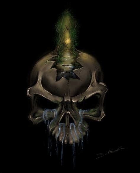 Nature Skull Threepwoody Deviantart