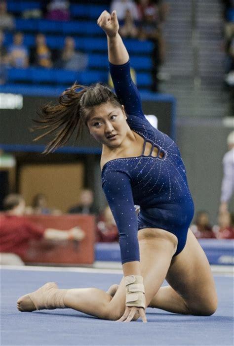 gymnastics ties   place  ncaa championship semifinal daily bruin