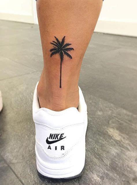 palm tree tattoo    ankle tattoos   palm