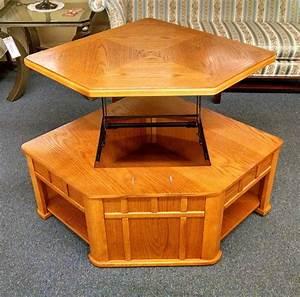 Oak, Lift, Top, Coffee, Table