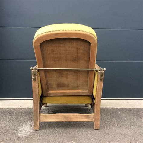 fauteuil art deco couleur jaune moutarde vintage  fabichka