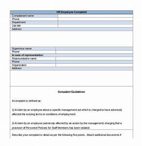 hr complaint letter 10 free word pdf documents With free human resources forms and templates