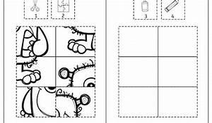 Puzzle Zum Ausdrucken : monster halloween klebepuzzle puzzle feinmotorik ~ Lizthompson.info Haus und Dekorationen