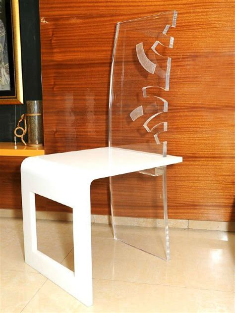 clear and white acrylic dining chair with design buy