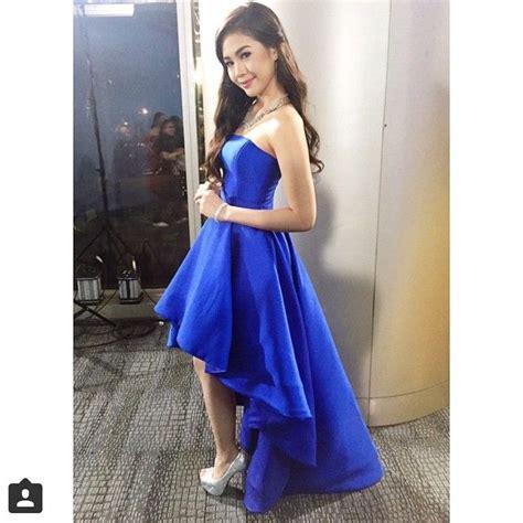 janella salvador dress janella salvador in a custom sheiralyn blue gown