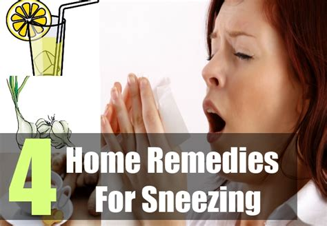 4 Natural Home Remedies For Sneezing