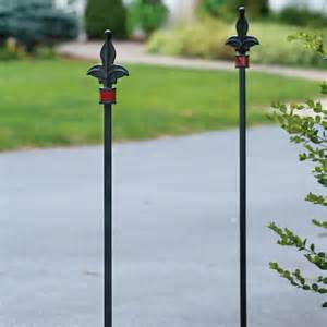 wrought iron driveway marker lawn and garden from