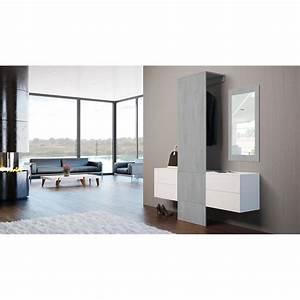 Garderobe Mit Spiegel : garderobe carlton set 3 beton oxid spiegel beton ~ Eleganceandgraceweddings.com Haus und Dekorationen