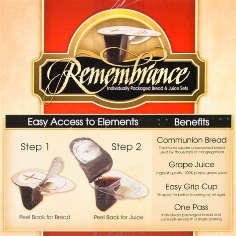 remembrance cup pack   pre filled communion cup