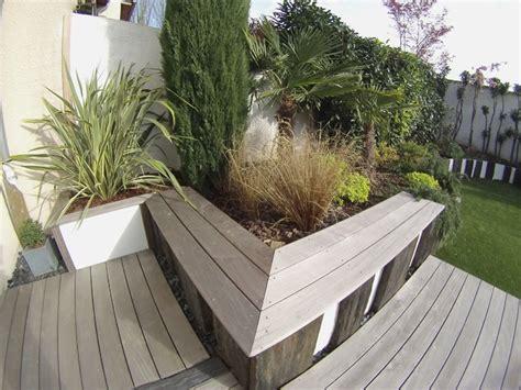 banquette exterieur contemporain terrasse en bois