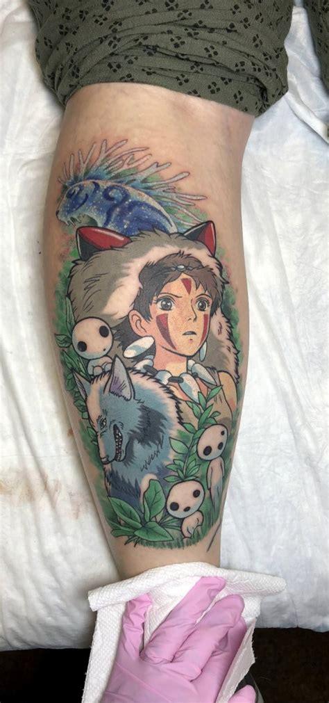 princess mononoke tattoo  kim   black rabbit tattoo richmond va evamigtattoos tattoo
