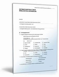 Mietvertrag Für Wohnungen : zeitmietvertrag f r eine m blierte wohnung ~ A.2002-acura-tl-radio.info Haus und Dekorationen