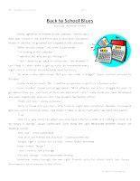 third grade reading comprehension worksheet back to