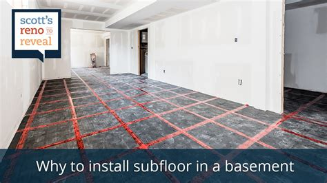 Why To Install Subfloor In A Basement Youtube