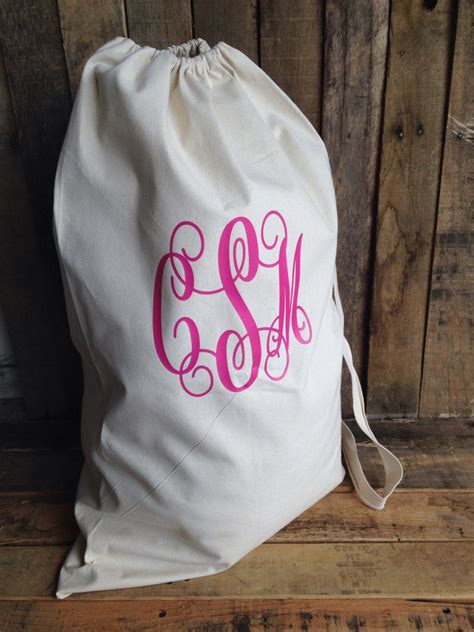monogrammed laundry bag college laundry bag large canvas