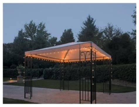 threshold string lights gazebo contemporary outdoor