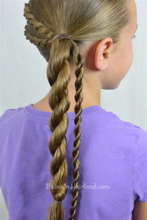 rope braids  twisted ponytail  babesinhairlandcom