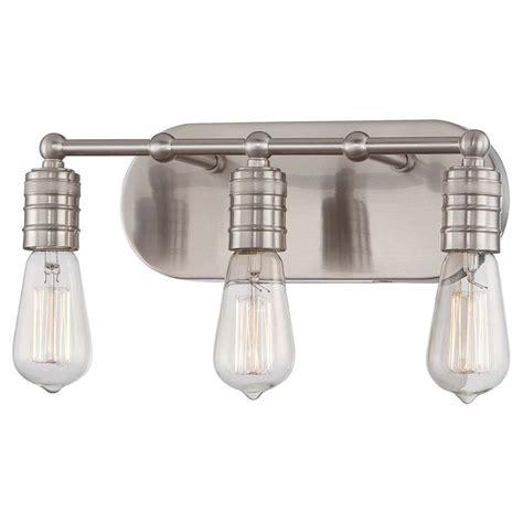 Bathroom Light Bulb by Minka Lavery Downtown Edison 3 Light Brushed Nickel Bath