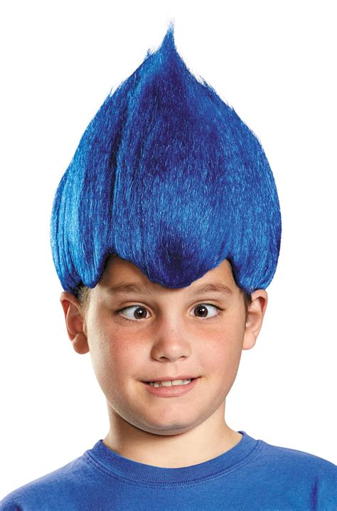 colorful wigs brand new wacky colorful troll child wig