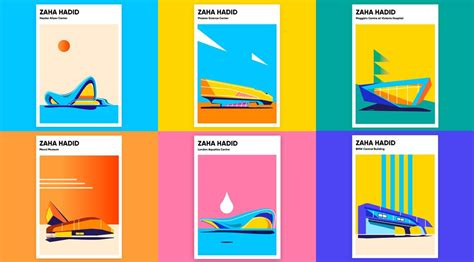 Home Design Architectural Series 18 by Zaha Hadid Buildings Poster Series By Bakusheva