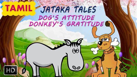 jataka tales  dog  donkey tamil moral stories