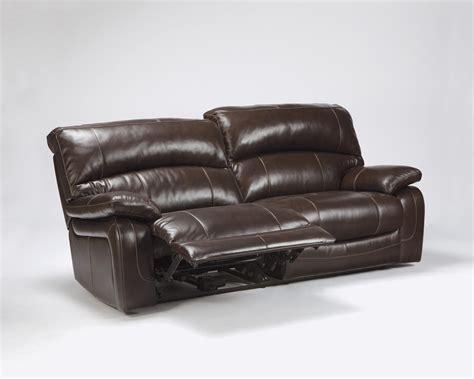 tan leather reclining sofa ashley signature design damacio dark brown leather
