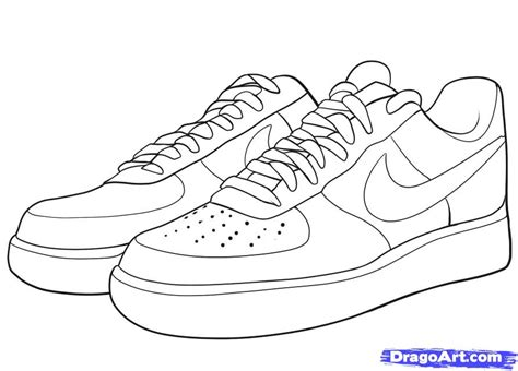 Coloring Nike Air 1 by Step 8 How To Draw Nike How To Draw Air Ones