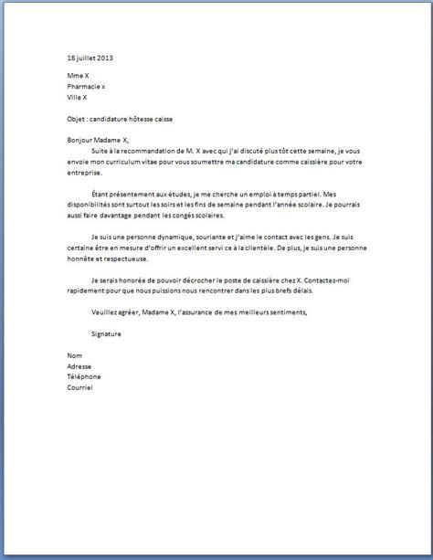 lettre de motivation hotesse