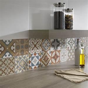 top 15 patchwork tile backsplash designs for kitchen With cuisine carreaux de ciment